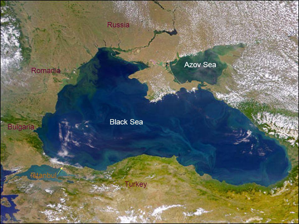 Russia Azov Sea Romania Black Sea Bulgaria Istanbul Turkey