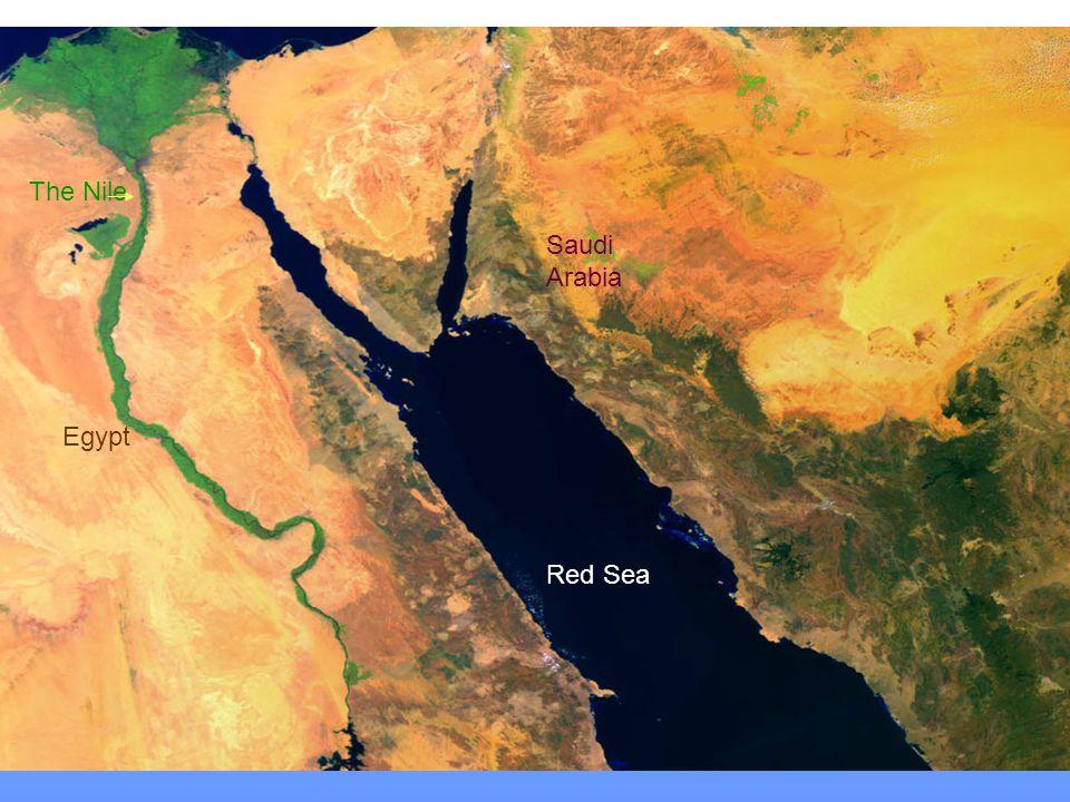 The Nile Saudi Arabia Egypt Red Sea