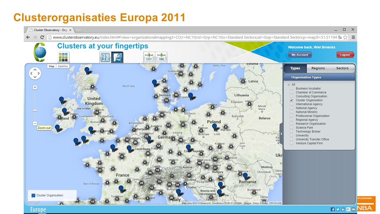 Clusterorganisaties Europa 2011