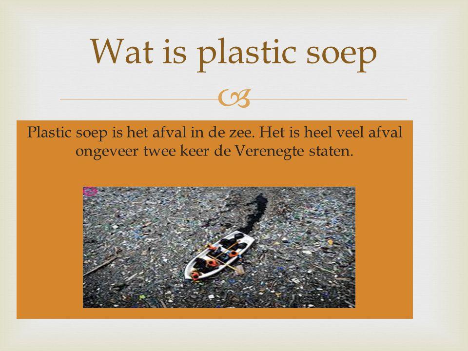 Wat is plastic soep Plastic soep is het afval in de zee.