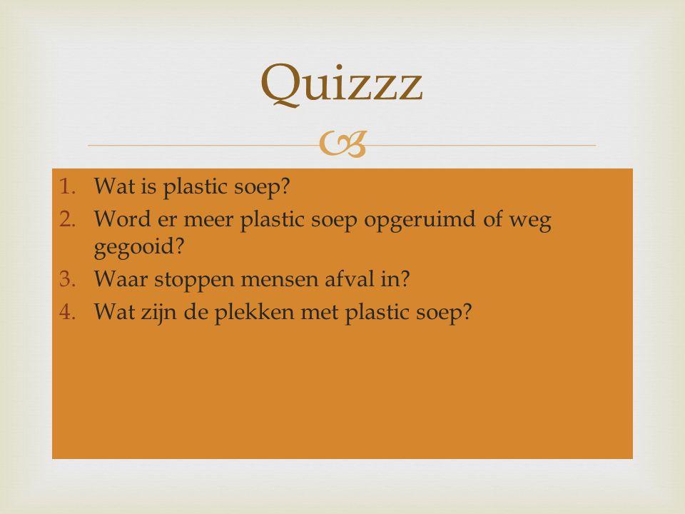 Quizzz Wat is plastic soep