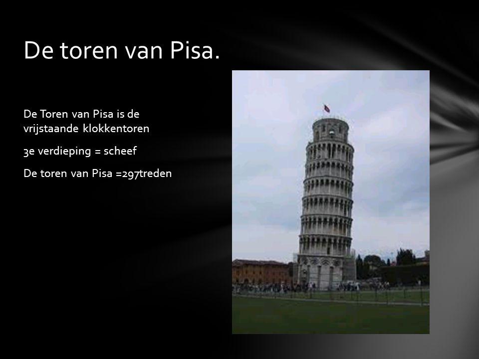 De toren van Pisa.
