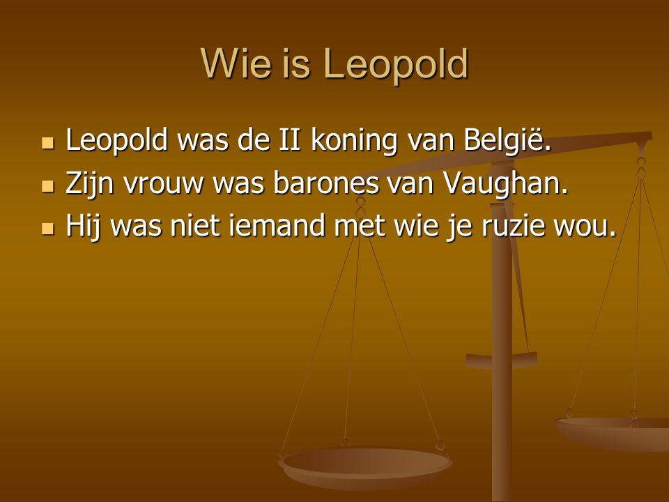 Wie is Leopold Leopold was de II koning van België.