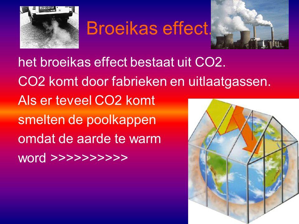 Broeikas effect. het broeikas effect bestaat uit CO2.