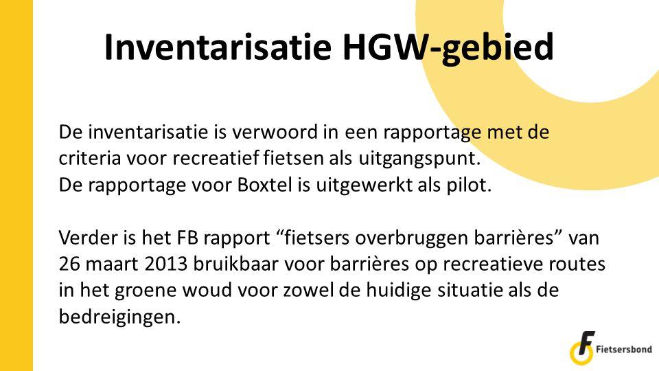 Inventarisatie HGW-gebied
