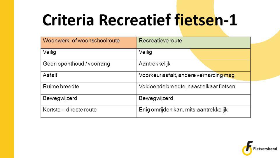 Criteria Recreatief fietsen-1