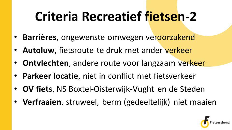 Criteria Recreatief fietsen-2