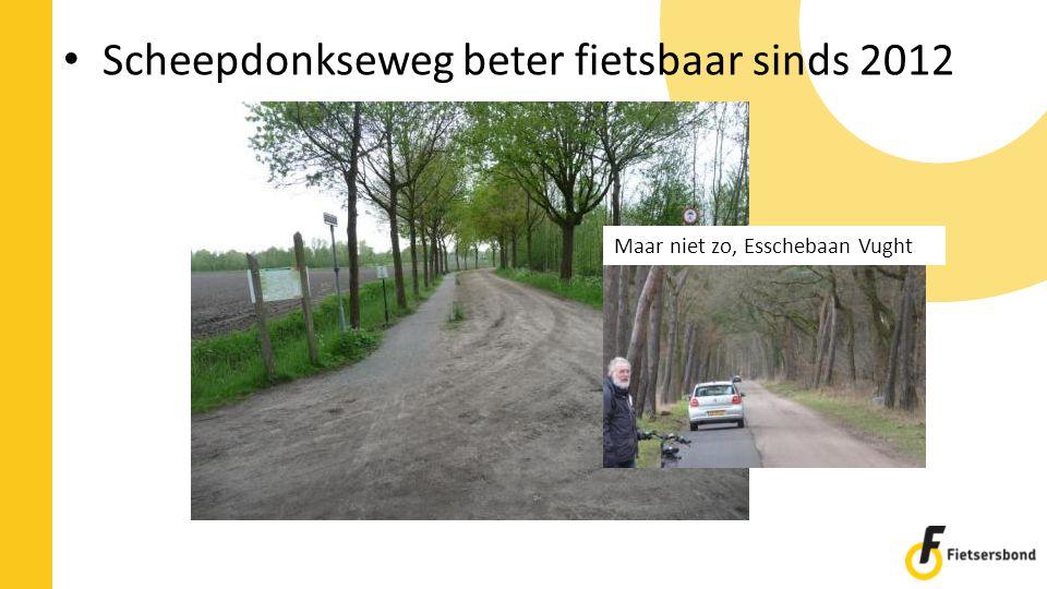 Scheepdonkseweg beter fietsbaar sinds 2012