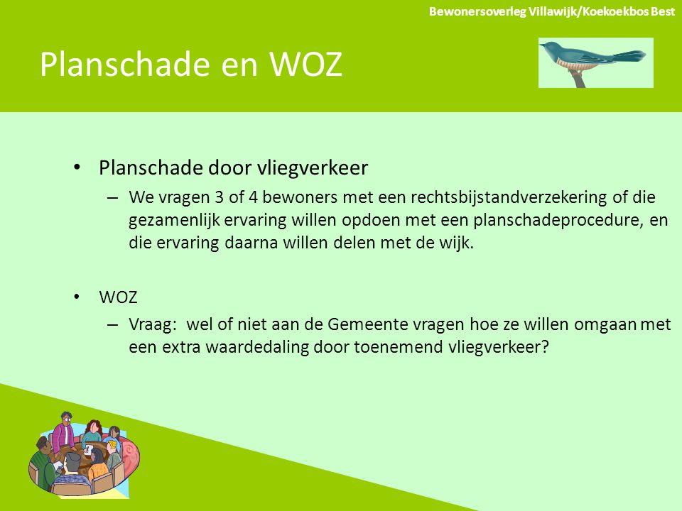 Planschade en WOZ Planschade door vliegverkeer