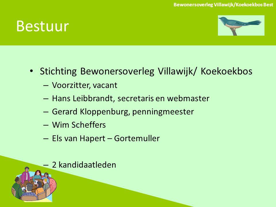 Bestuur Stichting Bewonersoverleg Villawijk/ Koekoekbos