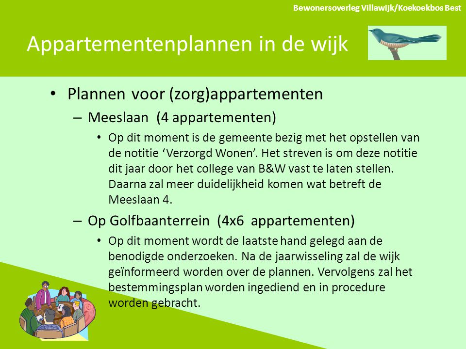 Appartementenplannen in de wijk