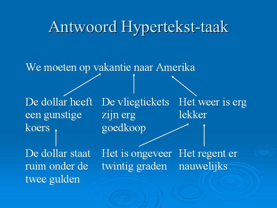 Antwoord Hypertekst-taak