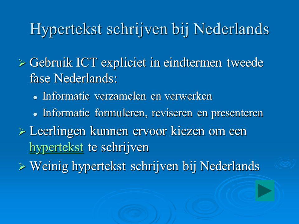 Hypertekst schrijven bij Nederlands
