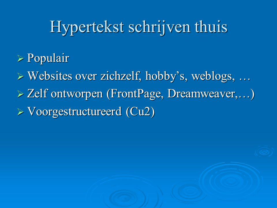 Hypertekst schrijven thuis