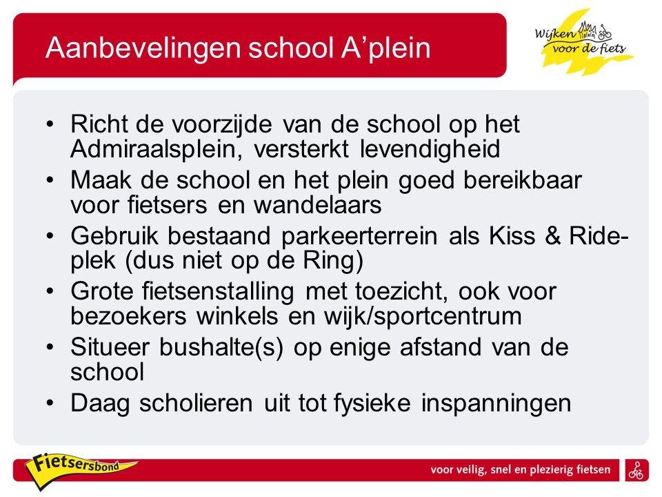 Aanbevelingen school A'plein