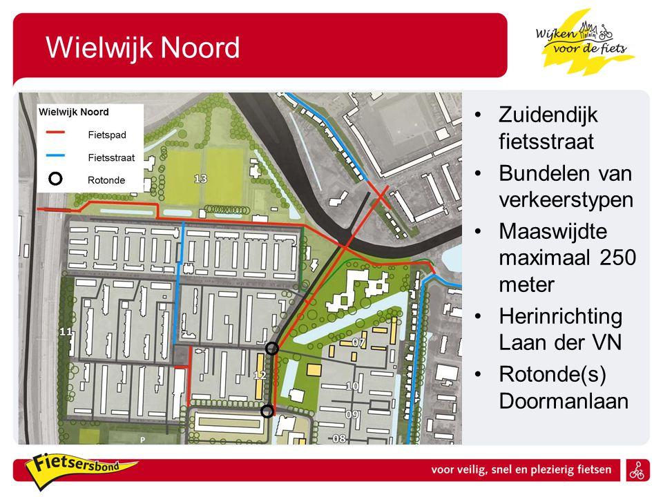 Wielwijk Noord Zuidendijk fietsstraat Bundelen van verkeerstypen