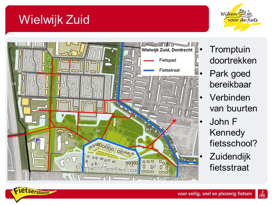 Wielwijk Zuid Tromptuin doortrekken Park goed bereikbaar