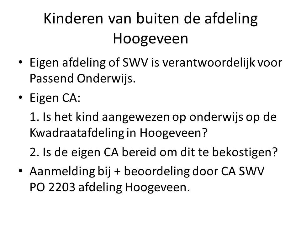Kinderen van buiten de afdeling Hoogeveen