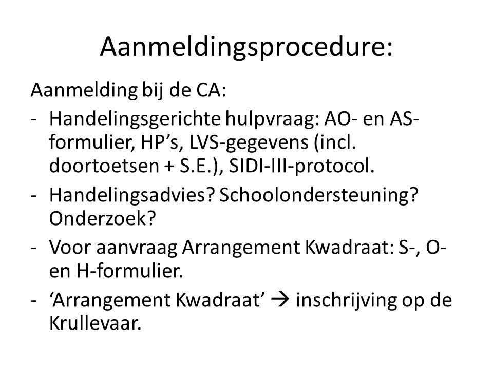 Aanmeldingsprocedure: