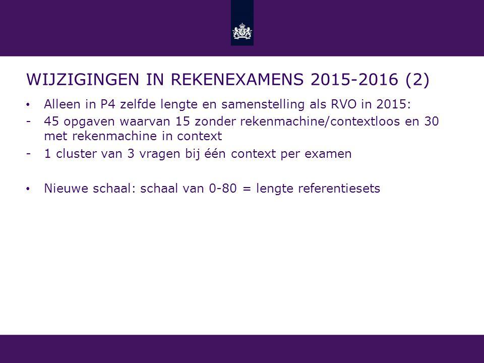 Wijzigingen in rekenexamens 2015-2016 (2)