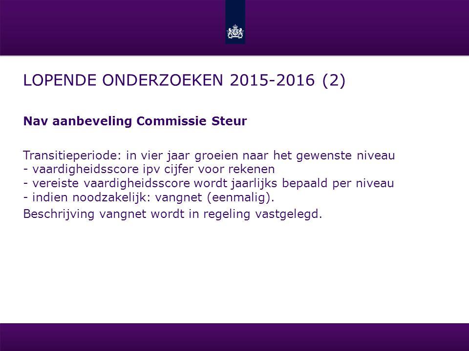 Lopende onderzoeken 2015-2016 (2)