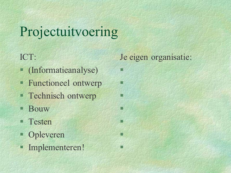 Projectuitvoering ICT: (Informatieanalyse) Functioneel ontwerp