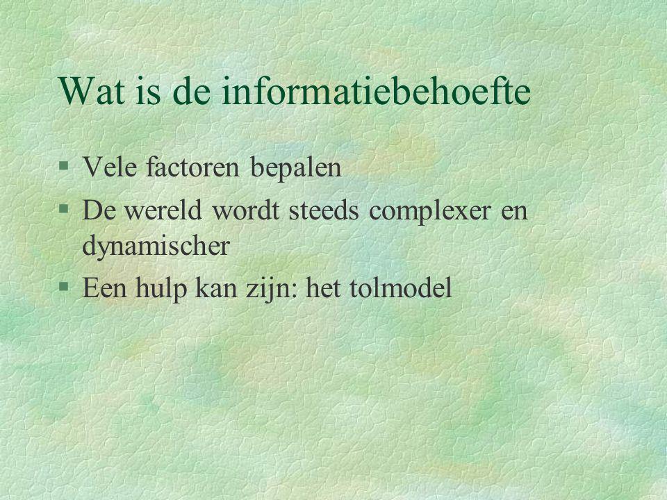 Wat is de informatiebehoefte