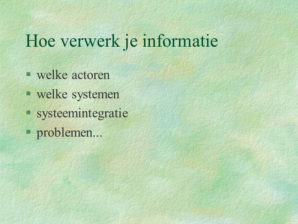 Hoe verwerk je informatie