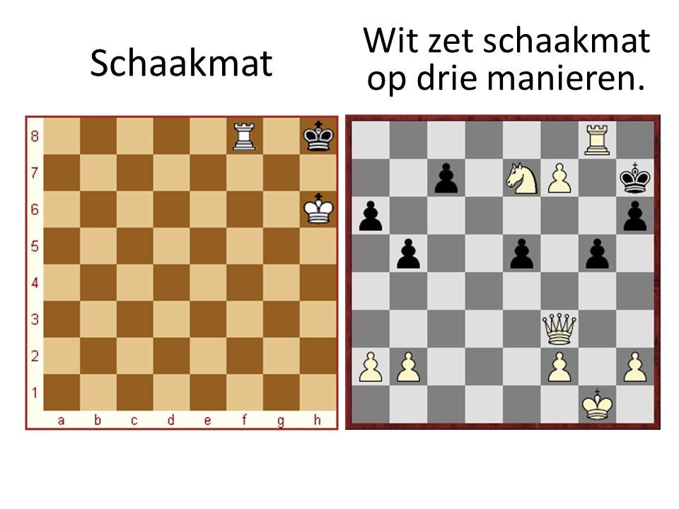 Wit zet schaakmat op drie manieren.