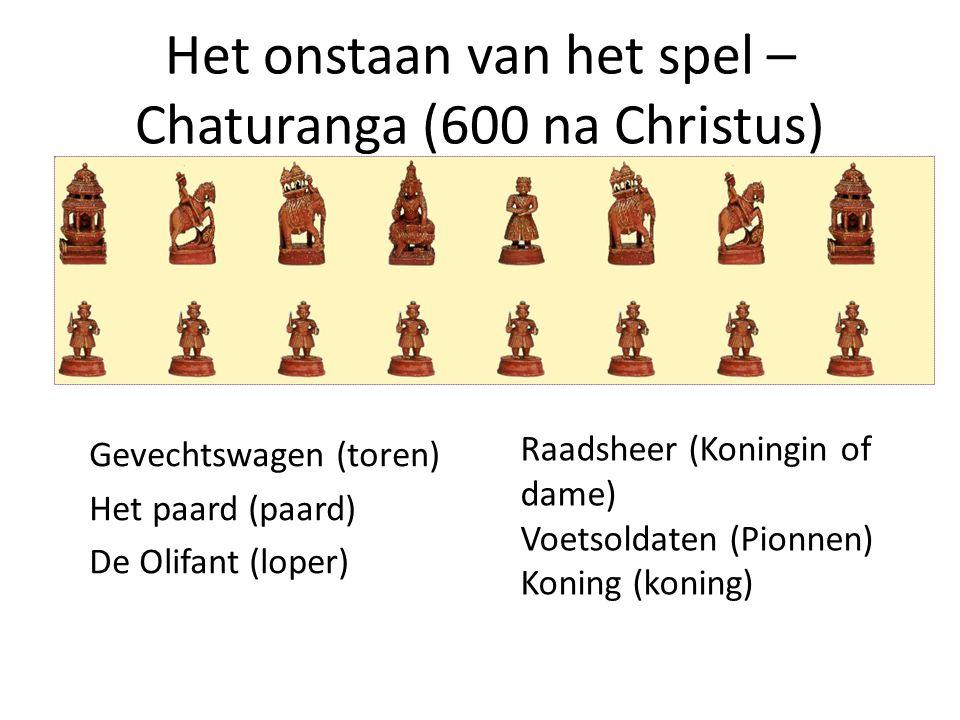Het onstaan van het spel – Chaturanga (600 na Christus)