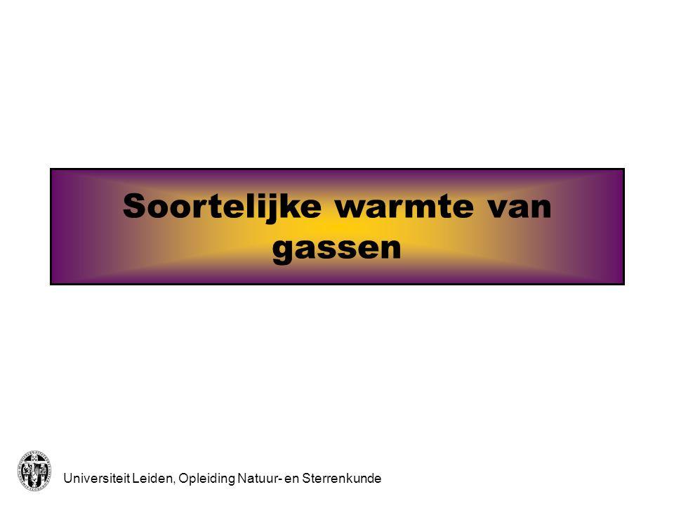 Soortelijke warmte van gassen