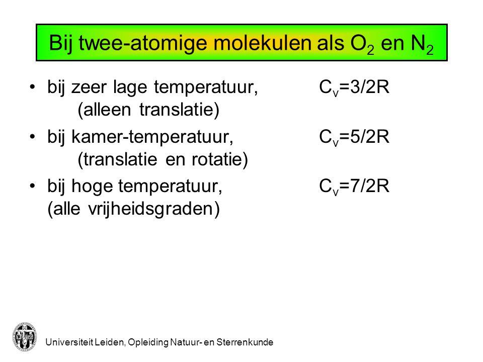 Bij twee-atomige molekulen als O2 en N2