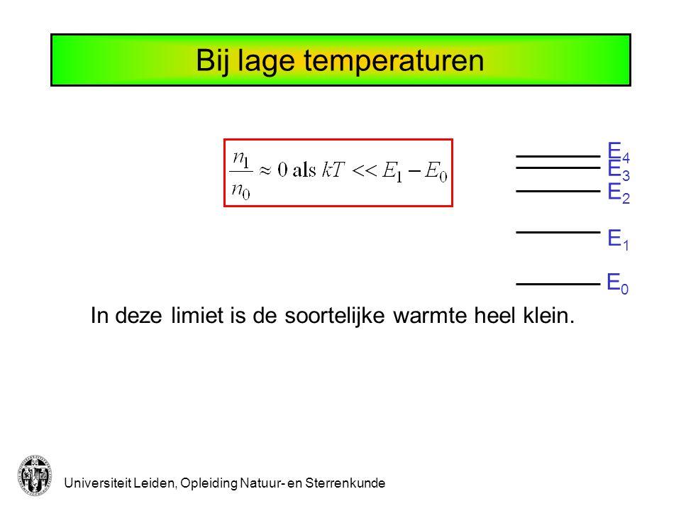 Bij lage temperaturen E4 E3 E2 E1 E0