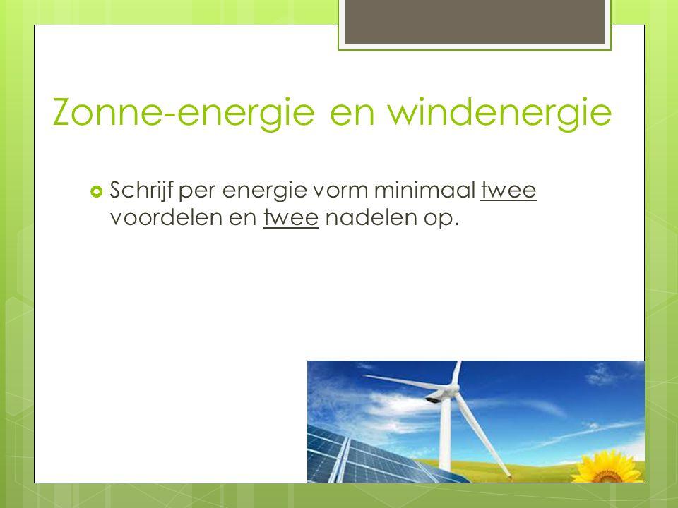 Zonne-energie en windenergie