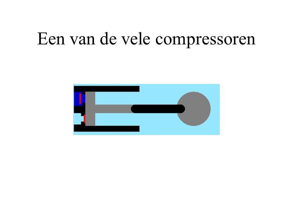 Een van de vele compressoren