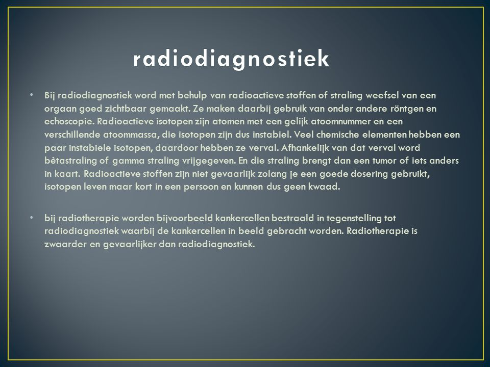 radiodiagnostiek