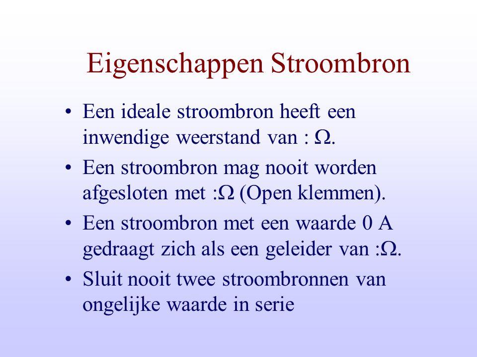 Eigenschappen Stroombron