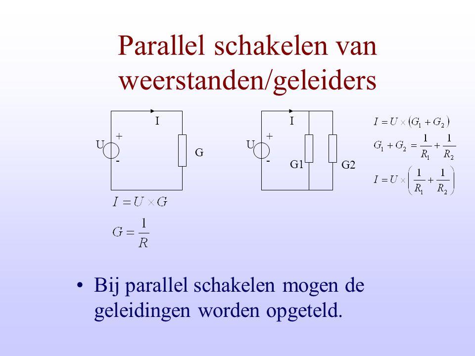 Parallel schakelen van weerstanden/geleiders