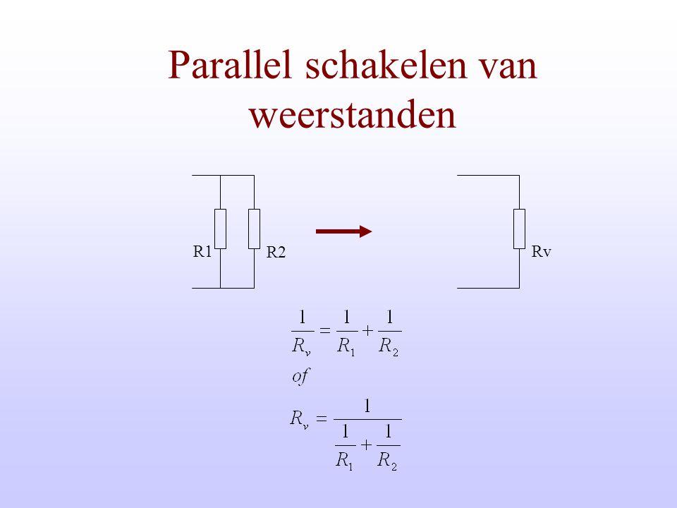 Parallel schakelen van weerstanden