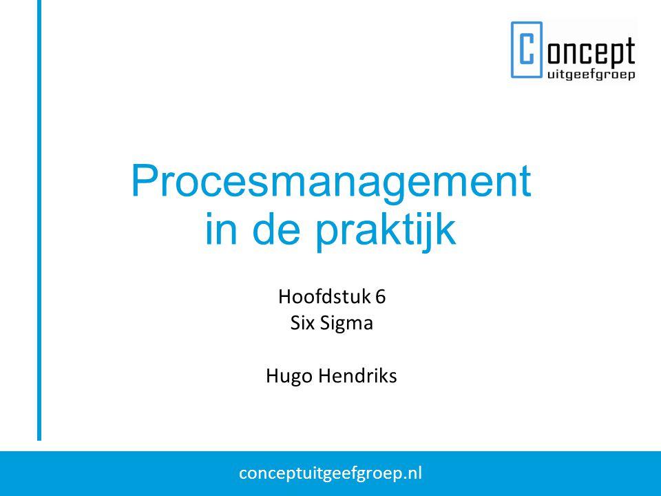 Procesmanagement in de praktijk Hoofdstuk 6 Six Sigma Hugo Hendriks