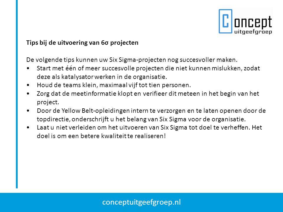 Tips bij de uitvoering van 6σ projecten
