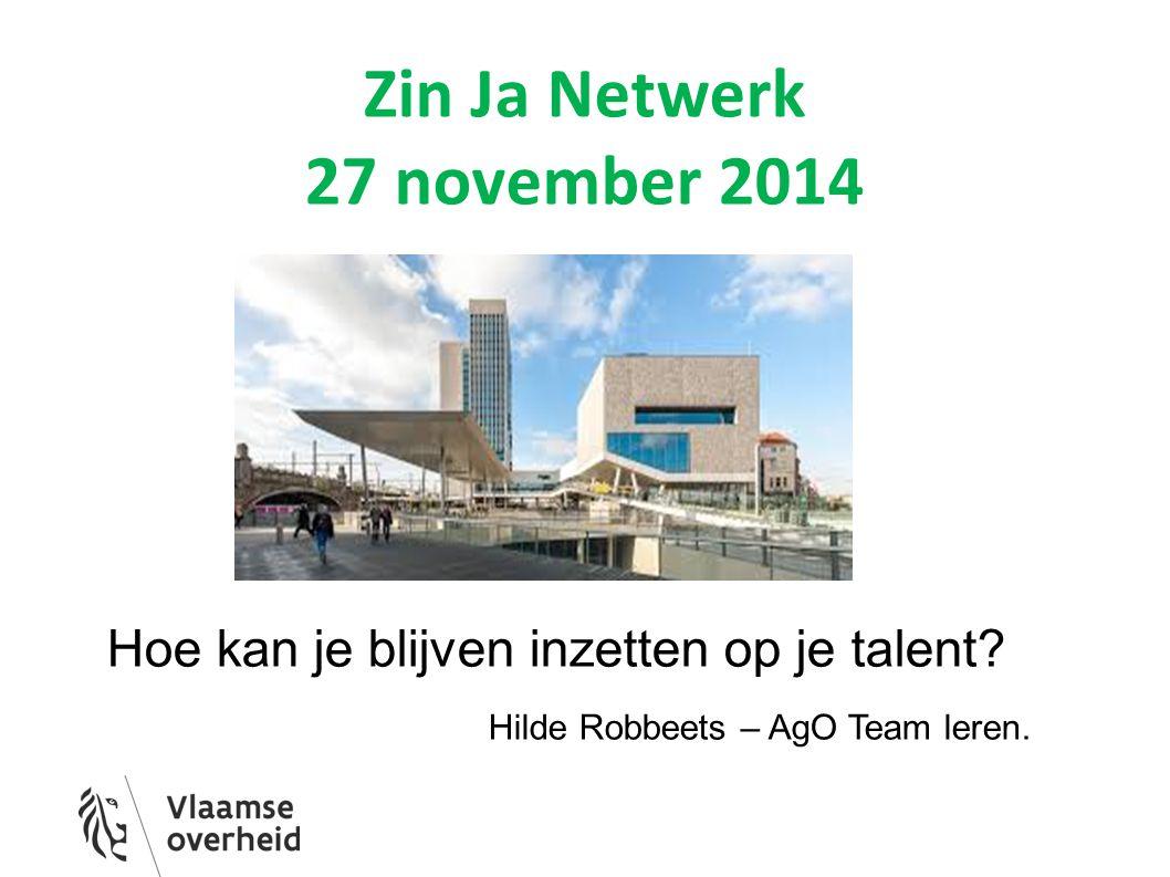 Zin Ja Netwerk 27 november 2014