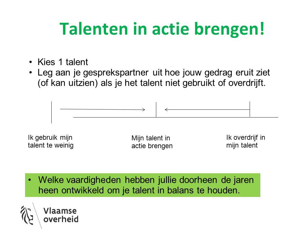 Talenten in actie brengen!