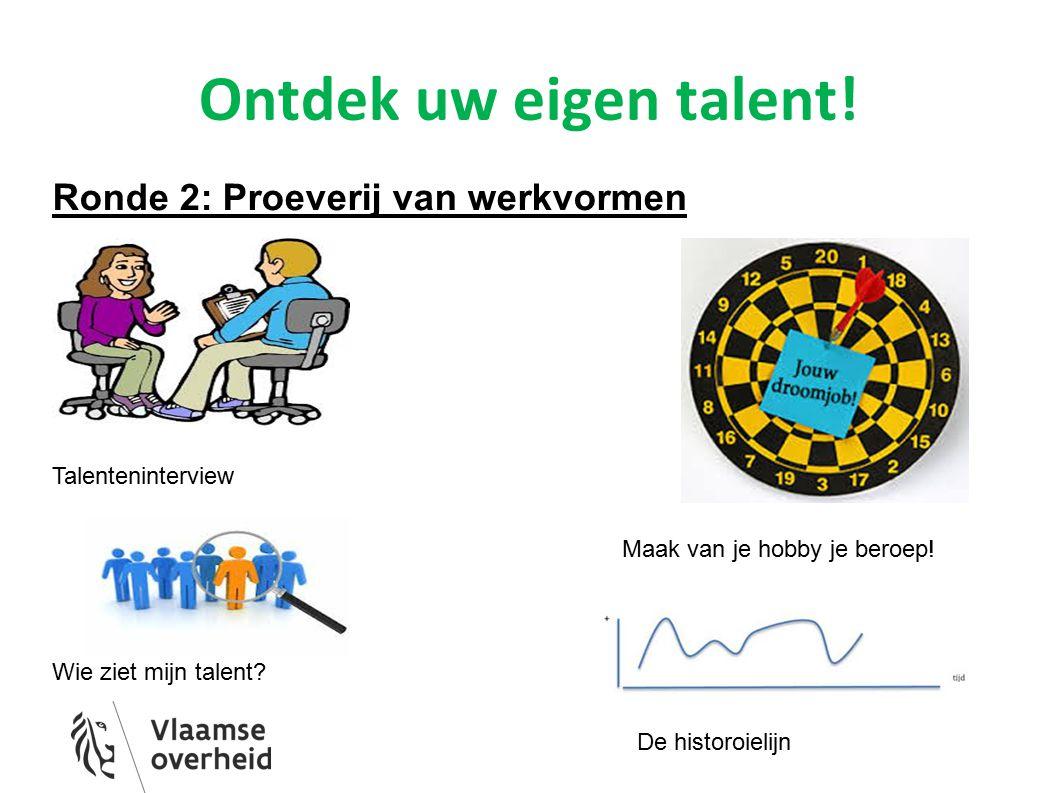 Ontdek uw eigen talent! Ronde 2: Proeverij van werkvormen