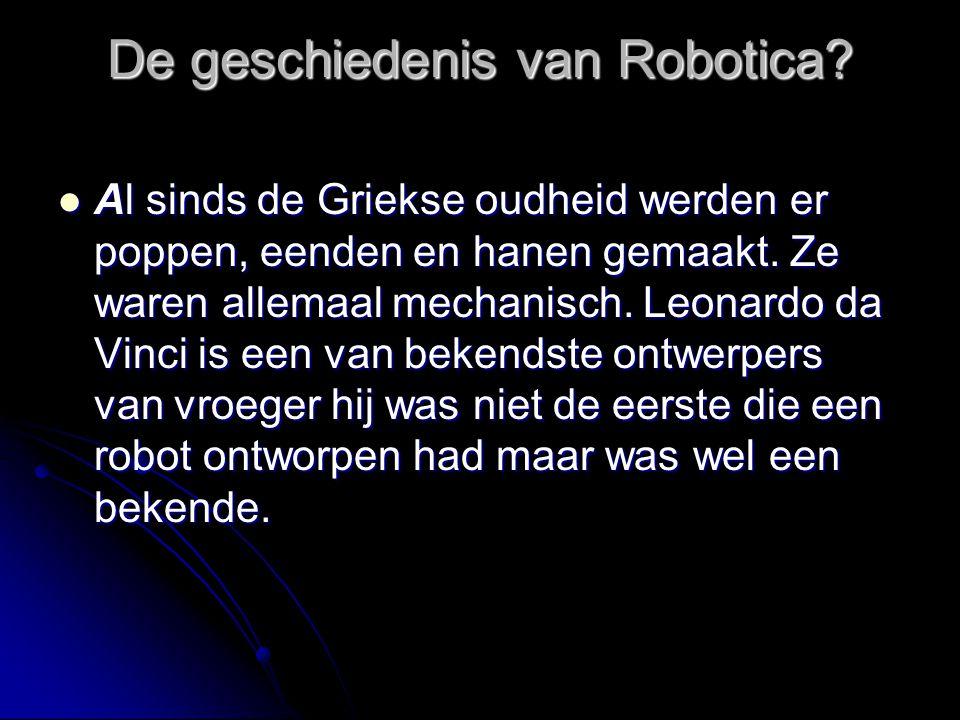 De geschiedenis van Robotica