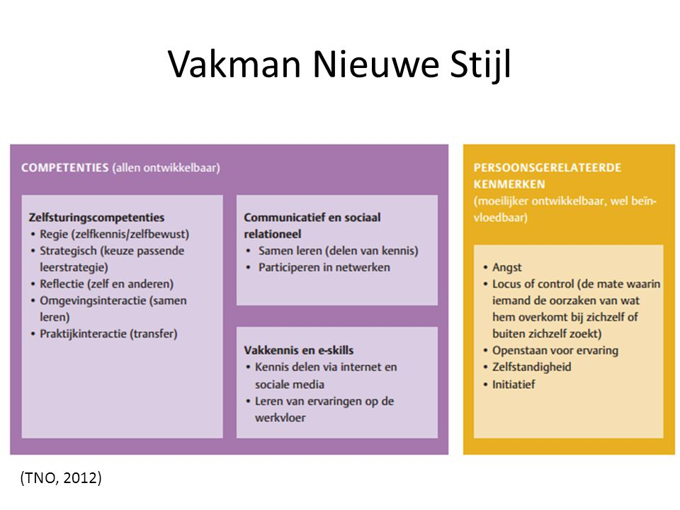 Vakman Nieuwe Stijl (TNO, 2012)