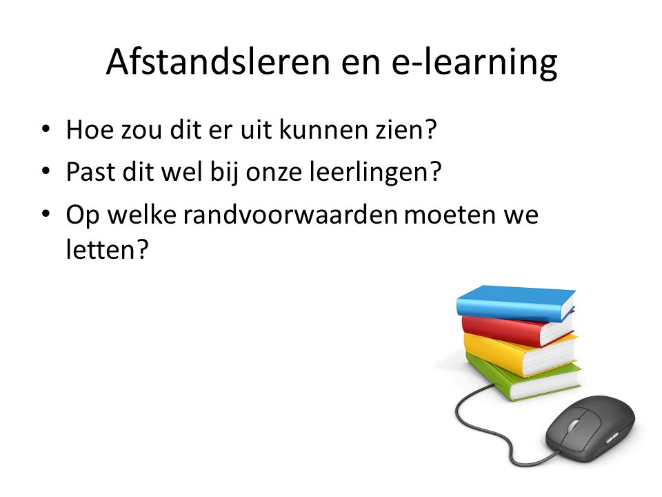 Afstandsleren en e-learning