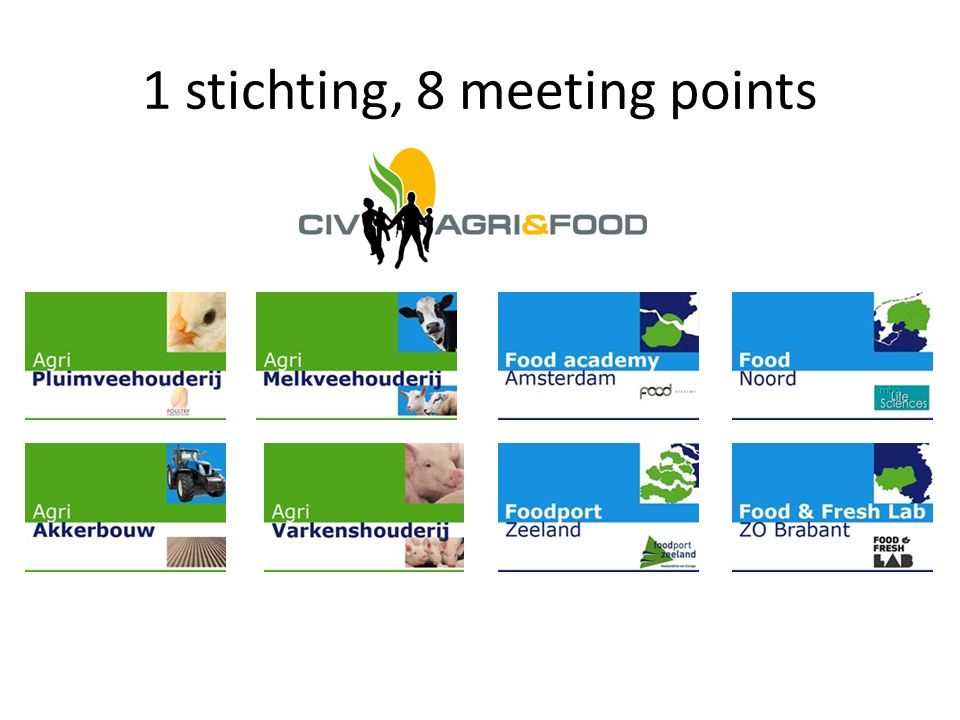 1 stichting, 8 meeting points