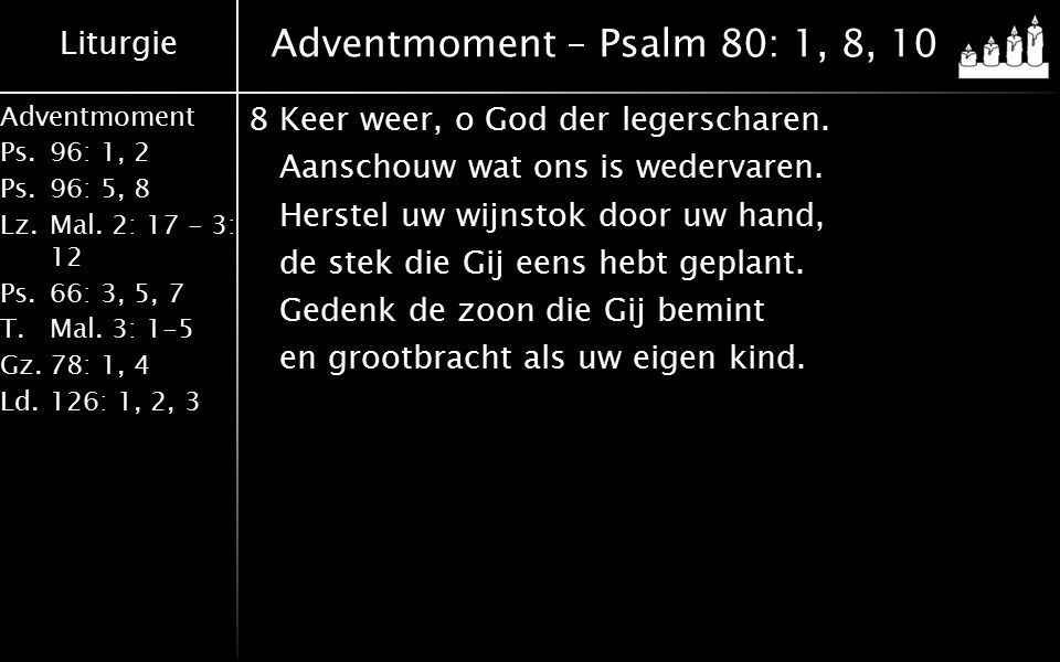 Adventmoment – Psalm 80: 1, 8, 10