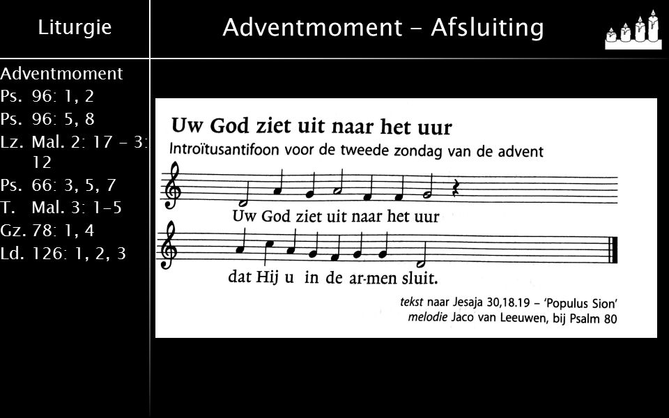 Adventmoment - Afsluiting